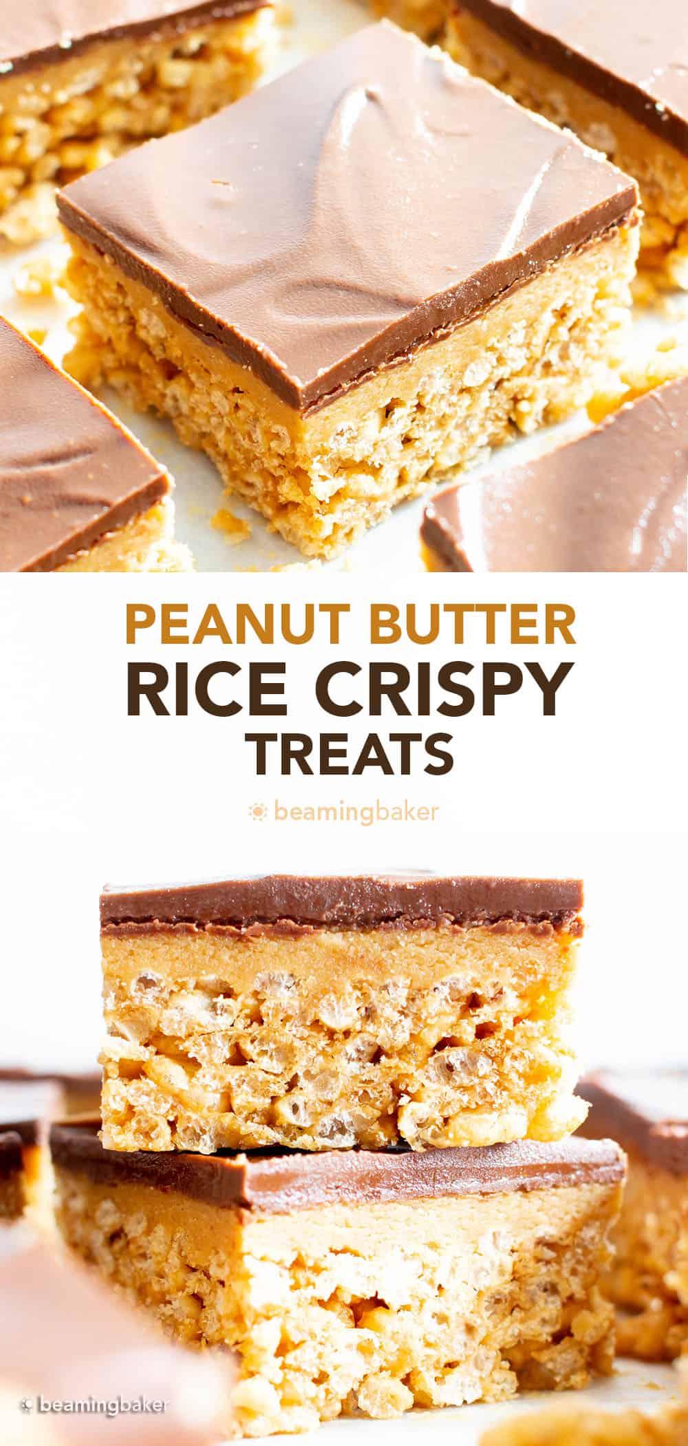 No Bake Peanut Butter Rice Crispy Treats pin image