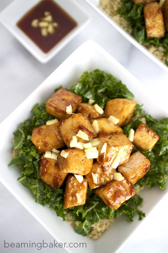 Last Teriyaki Tofu Bowls with Quinoa and Kale