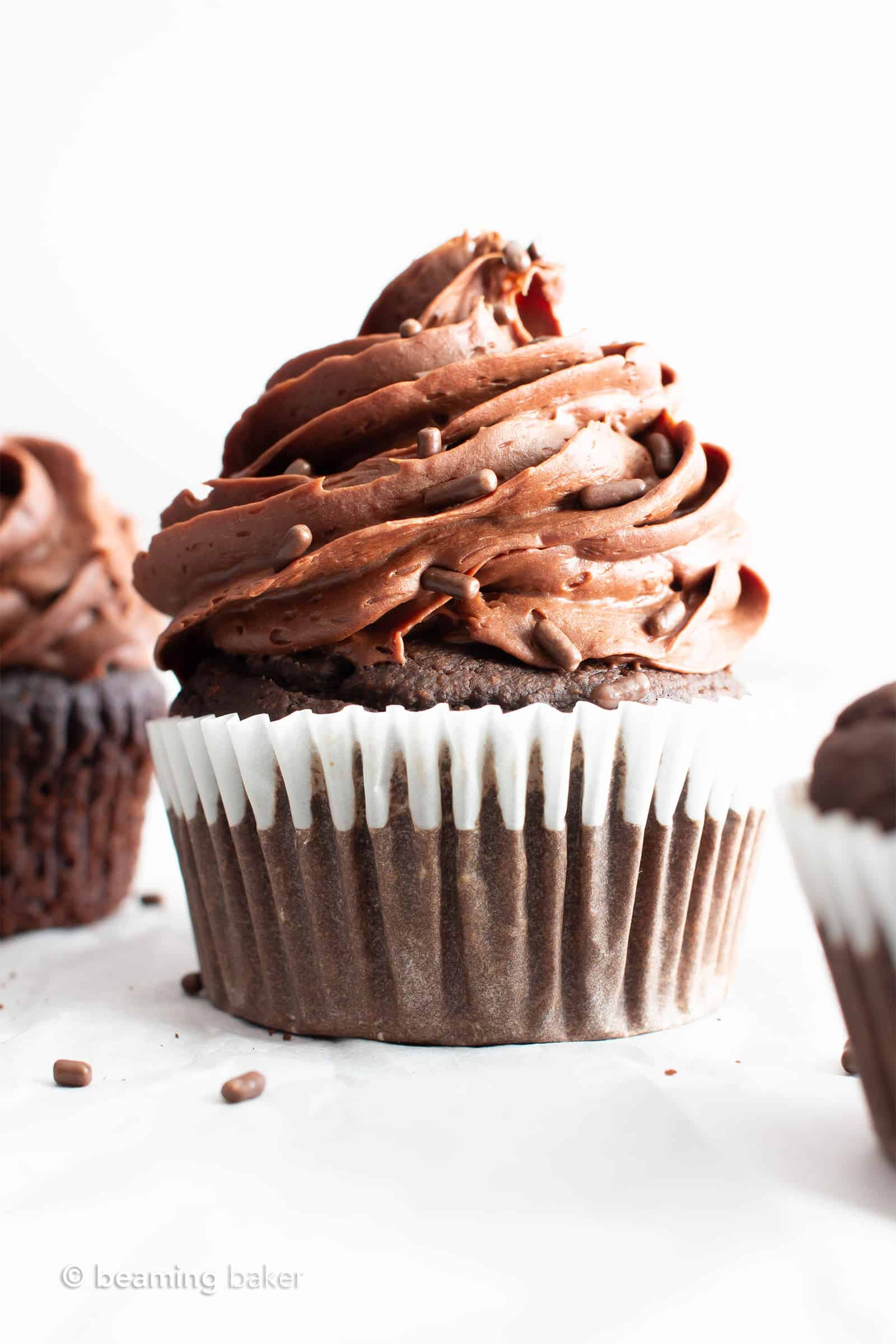 Vegan Gluten Free Chocolate Cupcakes Gf Dairy Free Healthy Refined Sugar Free Beaming Baker
