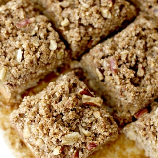 Banana Bread Bars with Streusel Topping (Vegan)