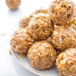 No Bake Peanut Butter Coconut Bites: delicious, easy to make, energy-boosting and super-filling. Made of just 6 simple ingredients, vegan and healthy! BEAMINGBAKER.COM