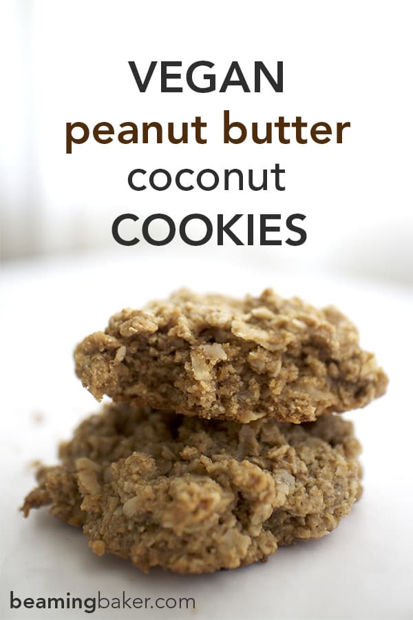 Best Vegan Peanut Butter Coconut Cookies