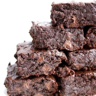 The BEST vegan brownies you've ever had: divinely rich, fudgy, and moist, bursting with chocolate flavor. BEAMINGBAKER.COM #Vegan