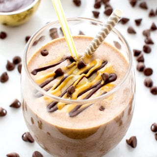 Chocolate Peanut Butter Banana Smoothie (Vegan, Gluten Free)