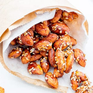 Maple Sesame Almonds (Vegan, Gluten Free)