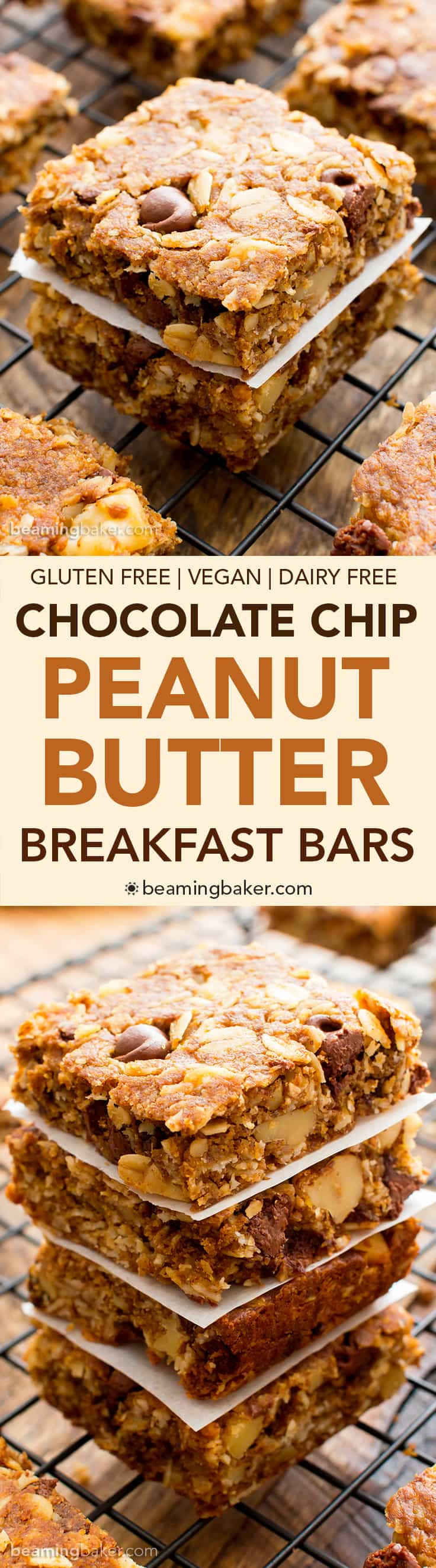 Peanut-Butter-Chocolate-Chip-Oatmeal-Breakfast-Bars-Vegan-Gluten-Free ...