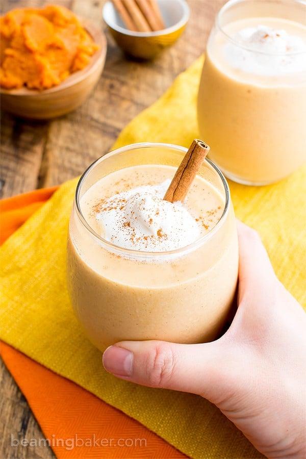 20+ Healthy Gluten Free Vegan Pumpkin Recipes (V, GF): a fantastically festive collection of the best vegan gluten free pumpkin recipes! Healthy pumpkin bread, pumpkin cookies, pumpkin pie, and more! #Vegan #GlutenFree #DairyFree #RefinedSugarFree #Fall #Pumpkin | Recipes on BeamingBaker.com