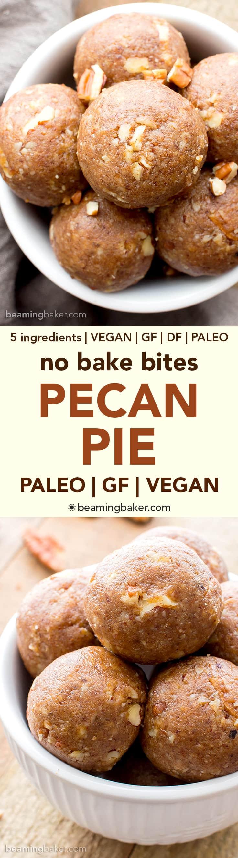 No Bake Vegan Pecan Pie Bites (Paleo, V, GF): a 5 ingredient recipe ...