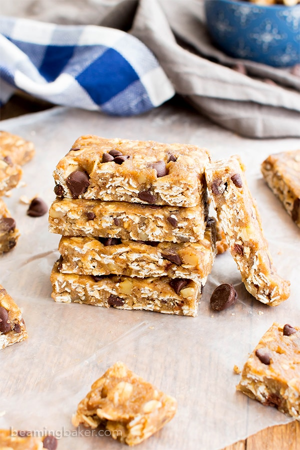 ... chewy no bake granola bars that taste like cookie dough. Vegan, Gluten