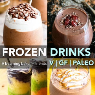 15 Easy Vegan Frozen Drinks (Gluten Free, Dairy-Free, Vegan, Paleo)