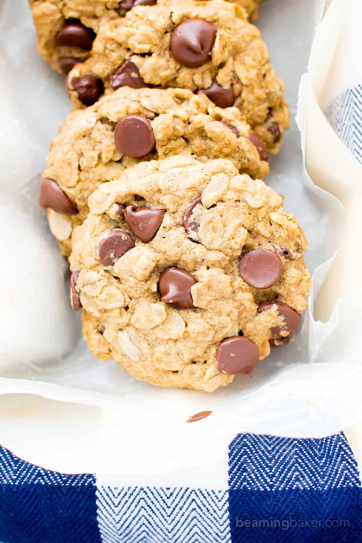 Gluten Free Vegan Oatmeal Chocolate Chip Cookies (V, GF, Dairy ...