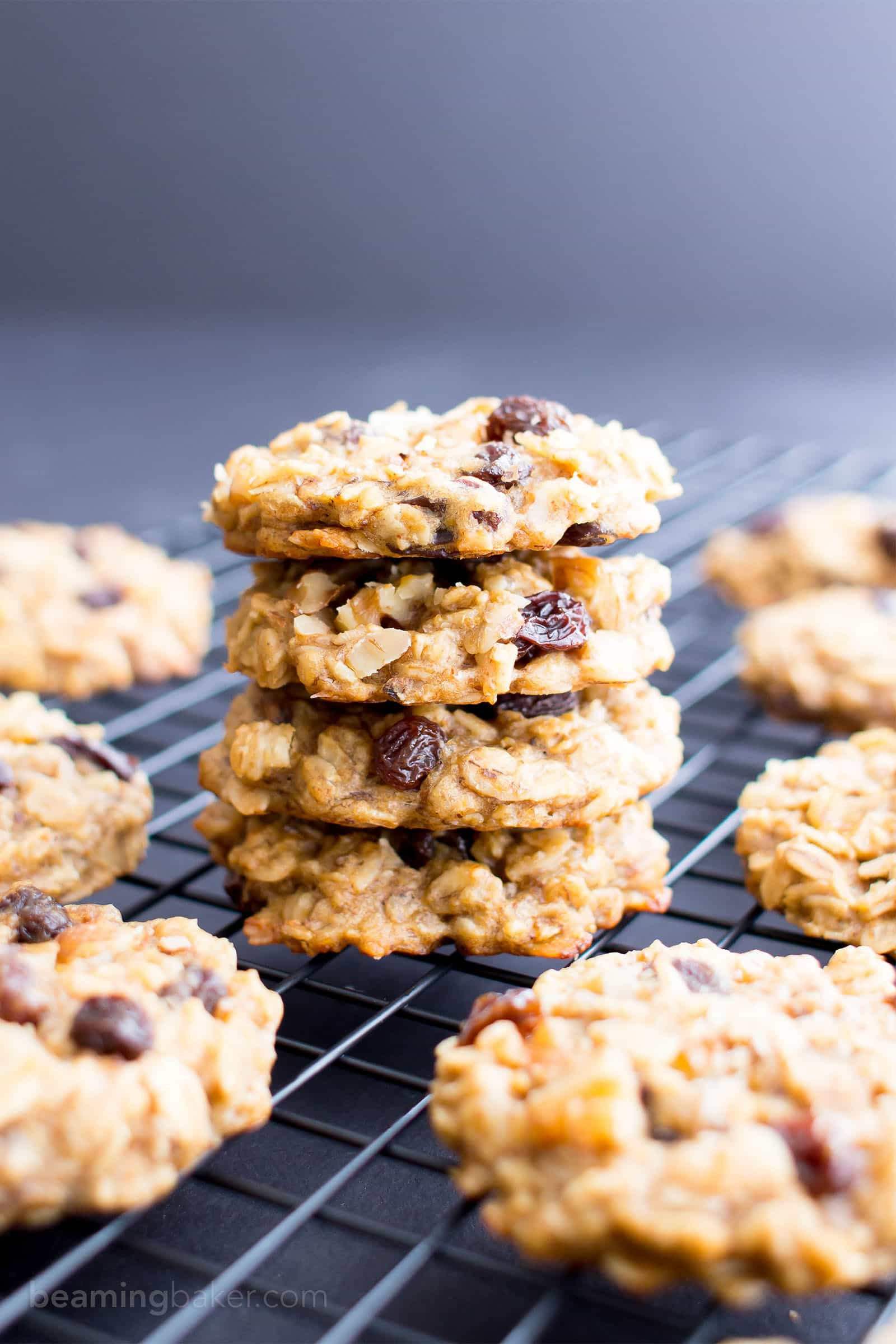 Easy Vegan Peanut Butter Banana Breakfast Cookies Gluten Free V