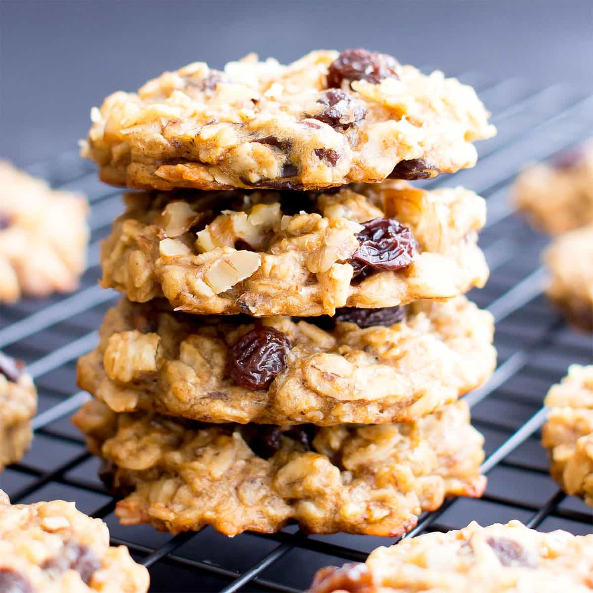Easy Vegan Peanut Butter Banana Breakfast Cookies Gluten Free V Df One Bowl