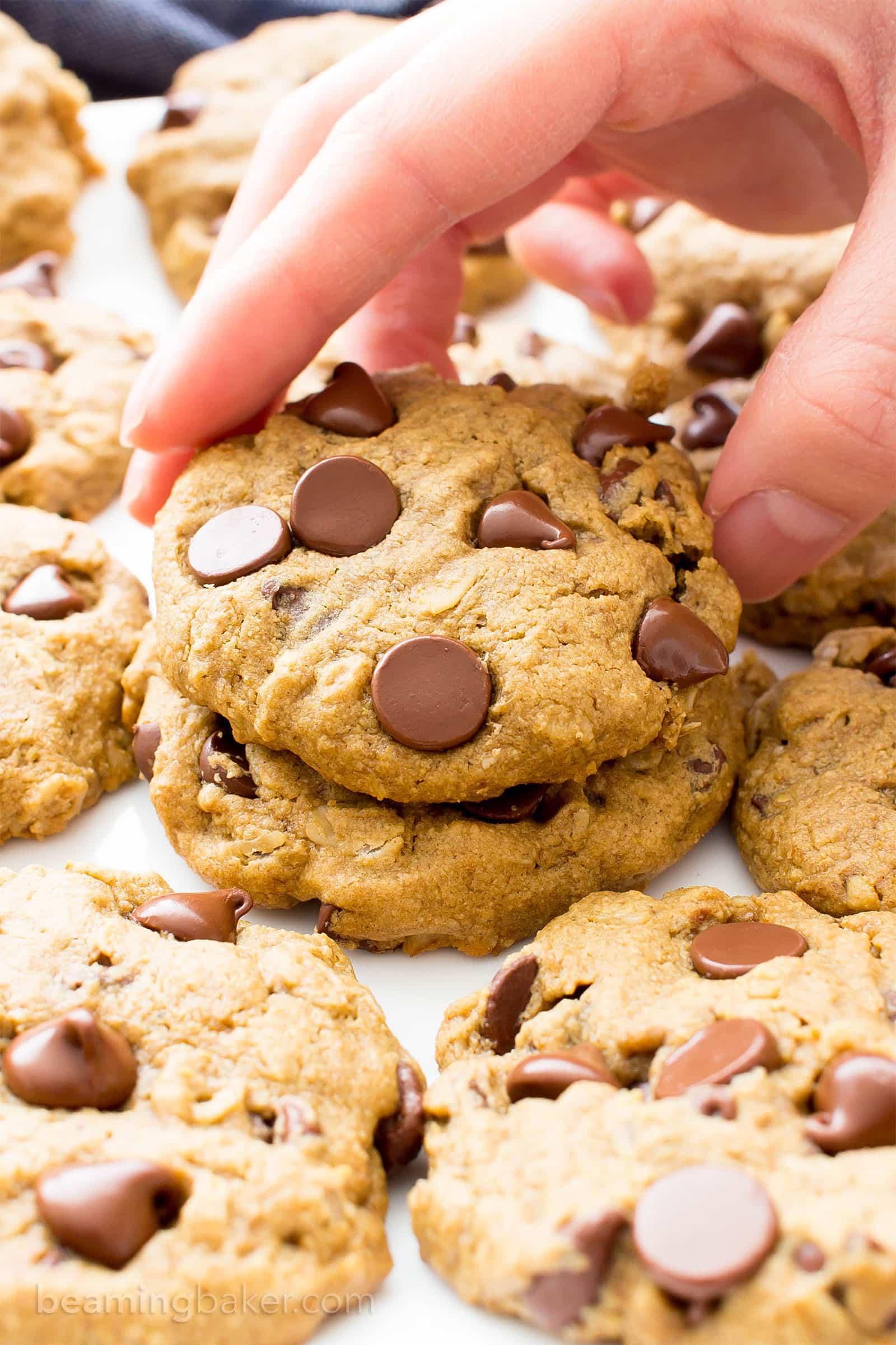 Gluten Free Vegan Oat Flour Chocolate Chip Cookies (V, GF, Dairy ...
