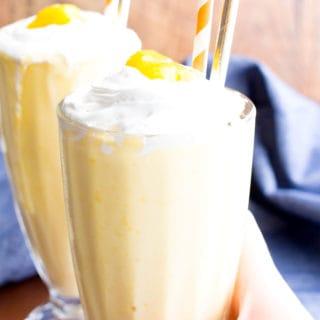 3 Ingredient Mango Coconut Paleo Milkshake (Vegan, Gluten Free, Dairy-Free, Paleo)
