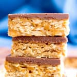 IG 4 Ingredient No Bake Chocolate Peanut Butter Cup Oatmeal Bars Gluten Free Vegan Dairy Free 1