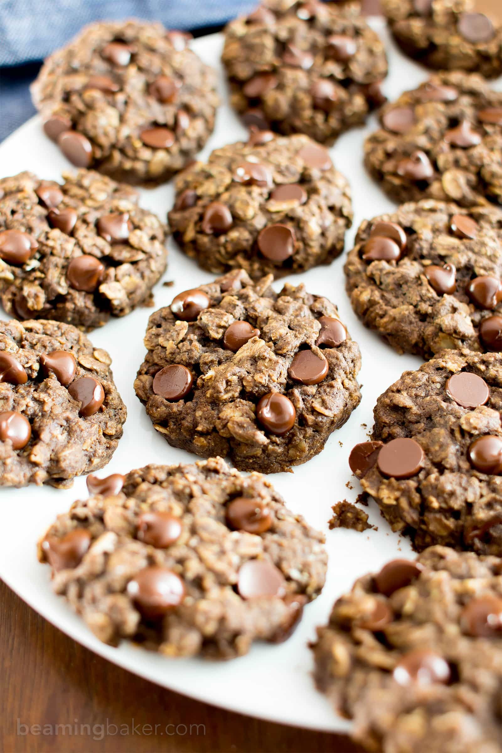 Gluten Free Double Chocolate Chip Oatmeal Cookies (V, GF, Dairy ...