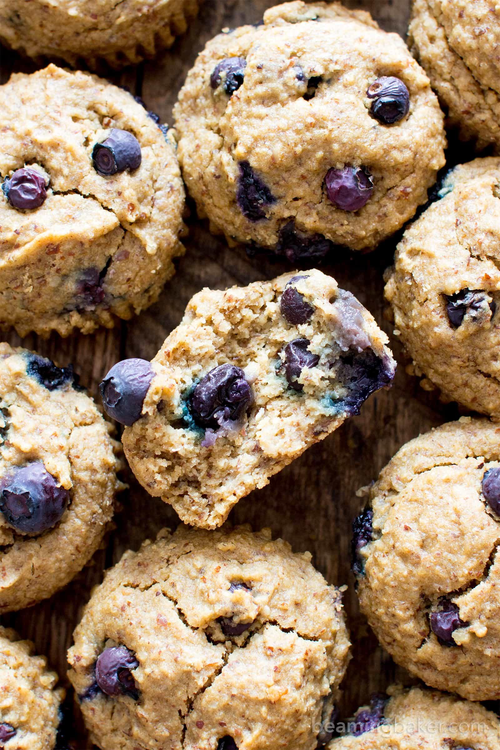 Gluten Free Vegan Blueberry Applesauce Muffins V Gf Df