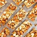 Nut Bars Recipe – Homemade KIND Bars: an easy, 5 ingredient nut bars recipe for homemade kind bars! Salty 'n sweet healthy nut bar delight! #NutBars #KIND #Homemade #Recipe | Recipe at BeamingBaker.com