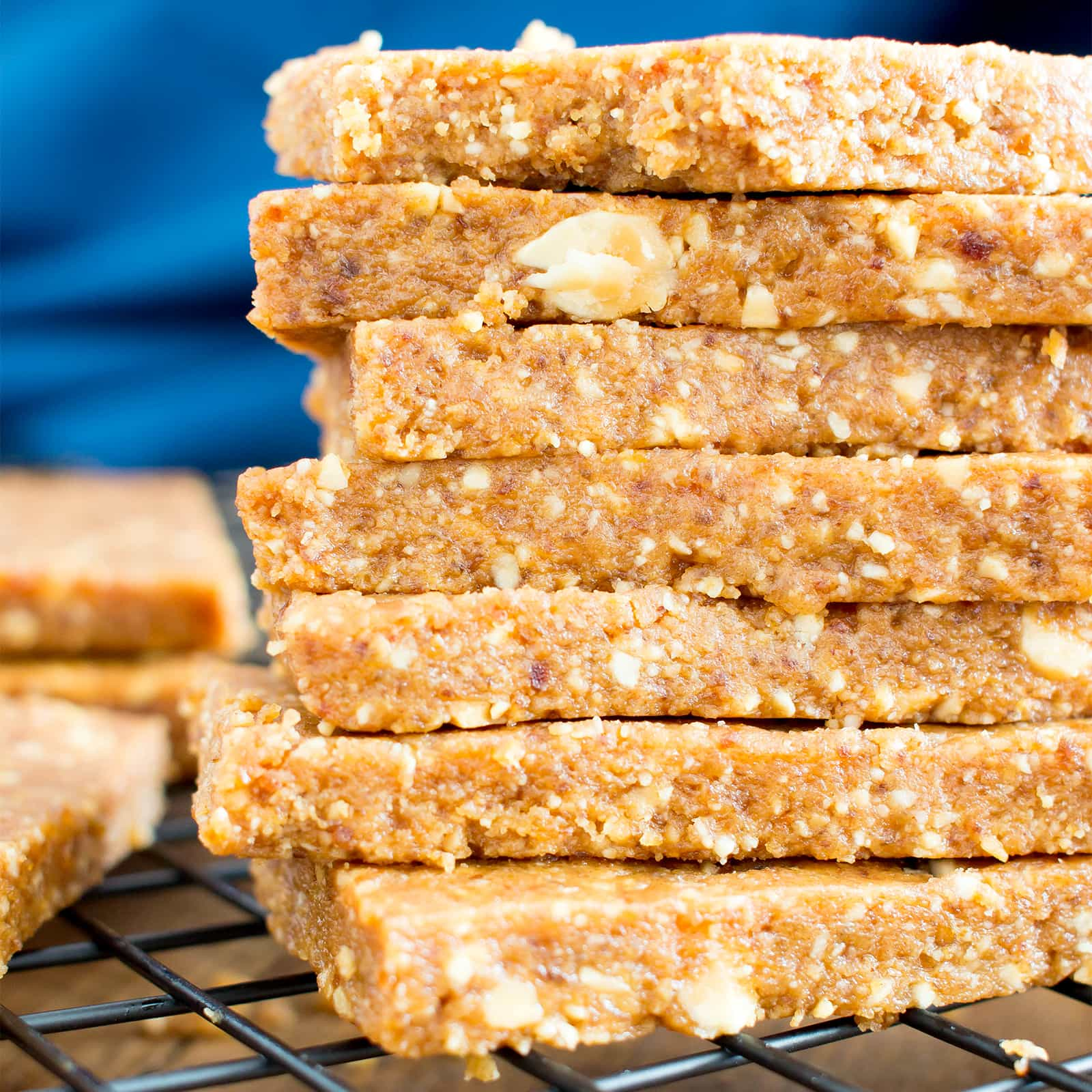 4 Ingredient No Bake Peanut Butter Cookie Energy Bars