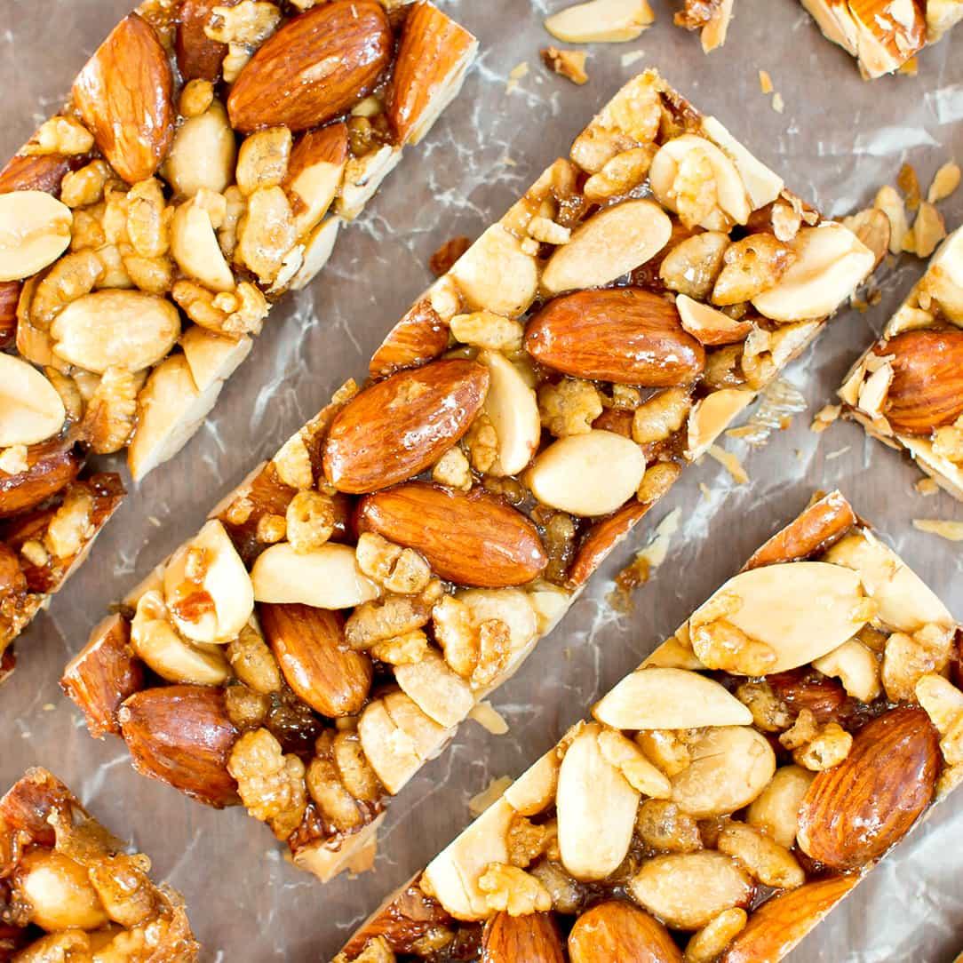 5 Ingredient Homemade KIND Nut Bars (Vegan, Gluten-Free, Dairy-Free ...
