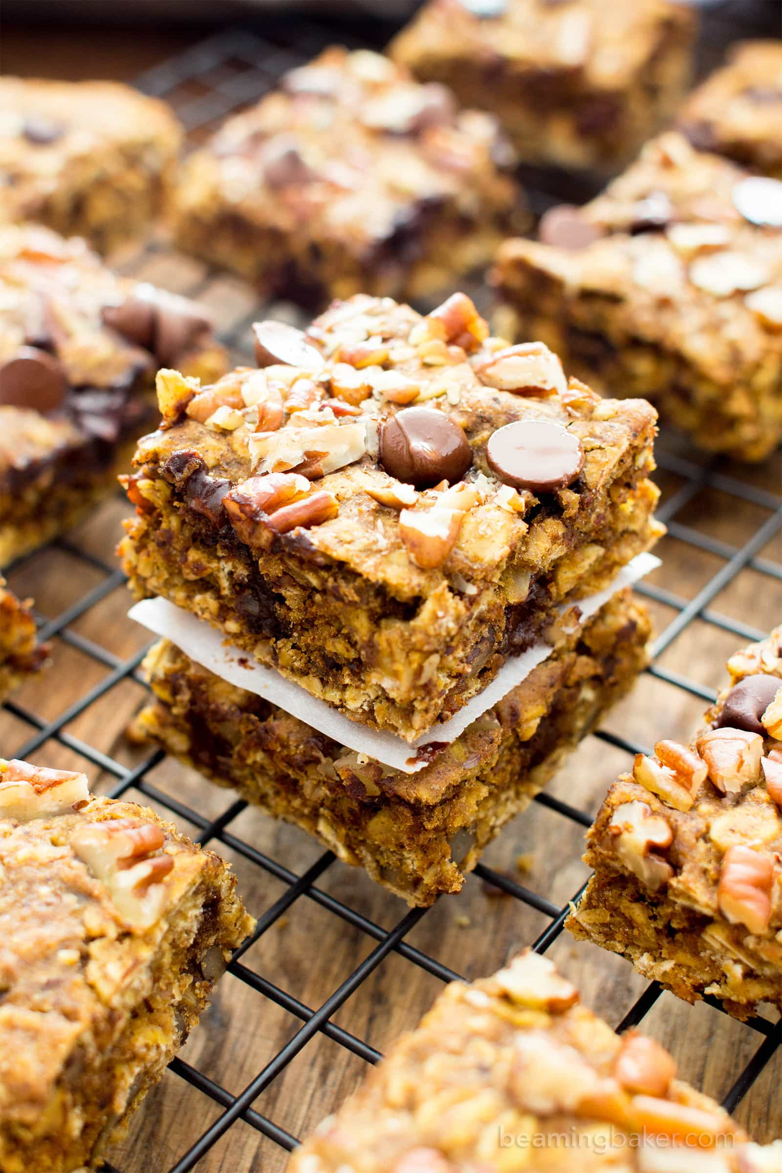 Pumpkin Gluten Free Vegan Breakfast Bars