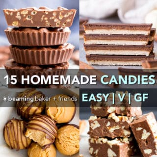 15 Easy Gluten Free Vegan Homemade Candy Recipes (Dairy-Free, Paleo, V, GF)