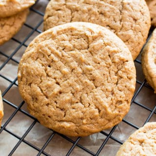 Easy Vegan Peanut Butter Cookies (Gluten Free, Healthy, V, Dairy-Free, Refined Sugar-Free)