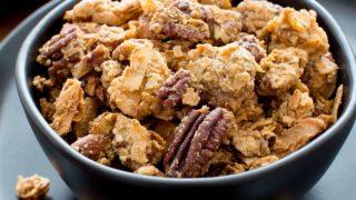 Homemade Chunky Paleo Granola with Clusters (Grain-Free, Vegan, Gluten Free, Paleo)
