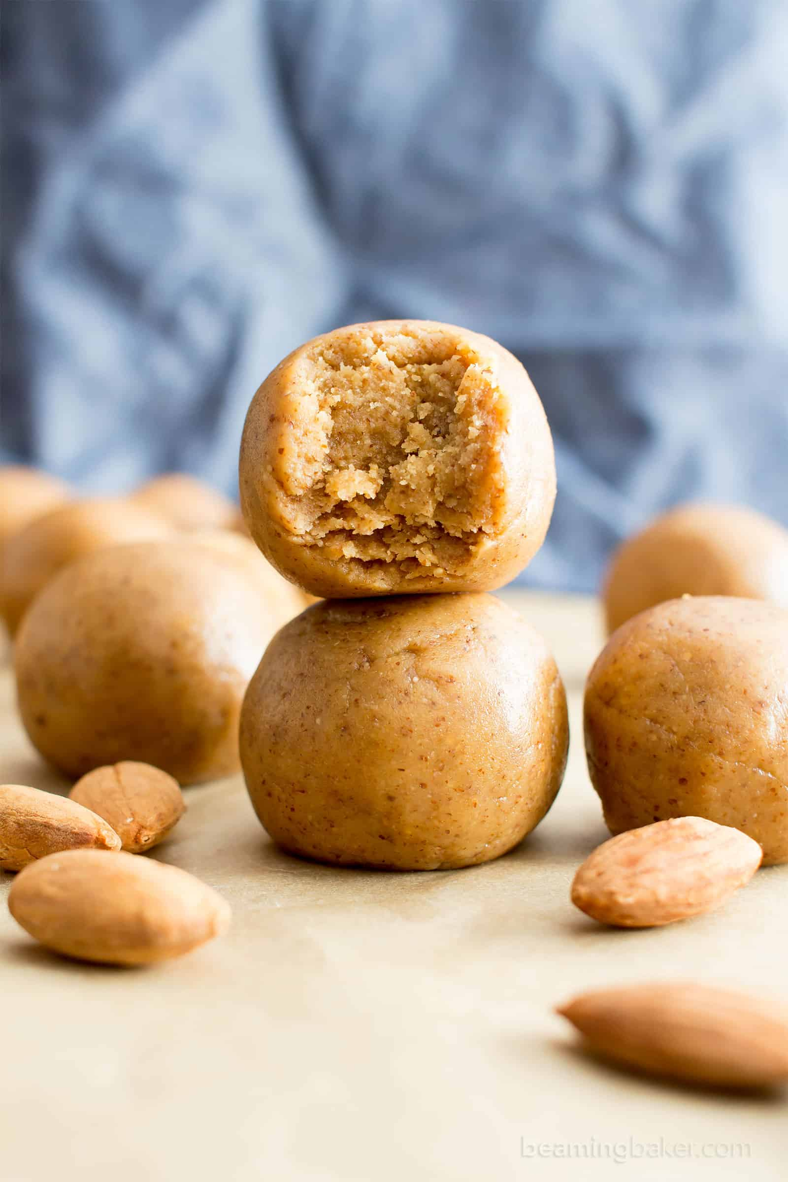 3 Ingredient No Bake Almond Butter Paleo Energy Balls