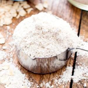 How to Make Homemade Oat Flour (Gluten Free, Vegan