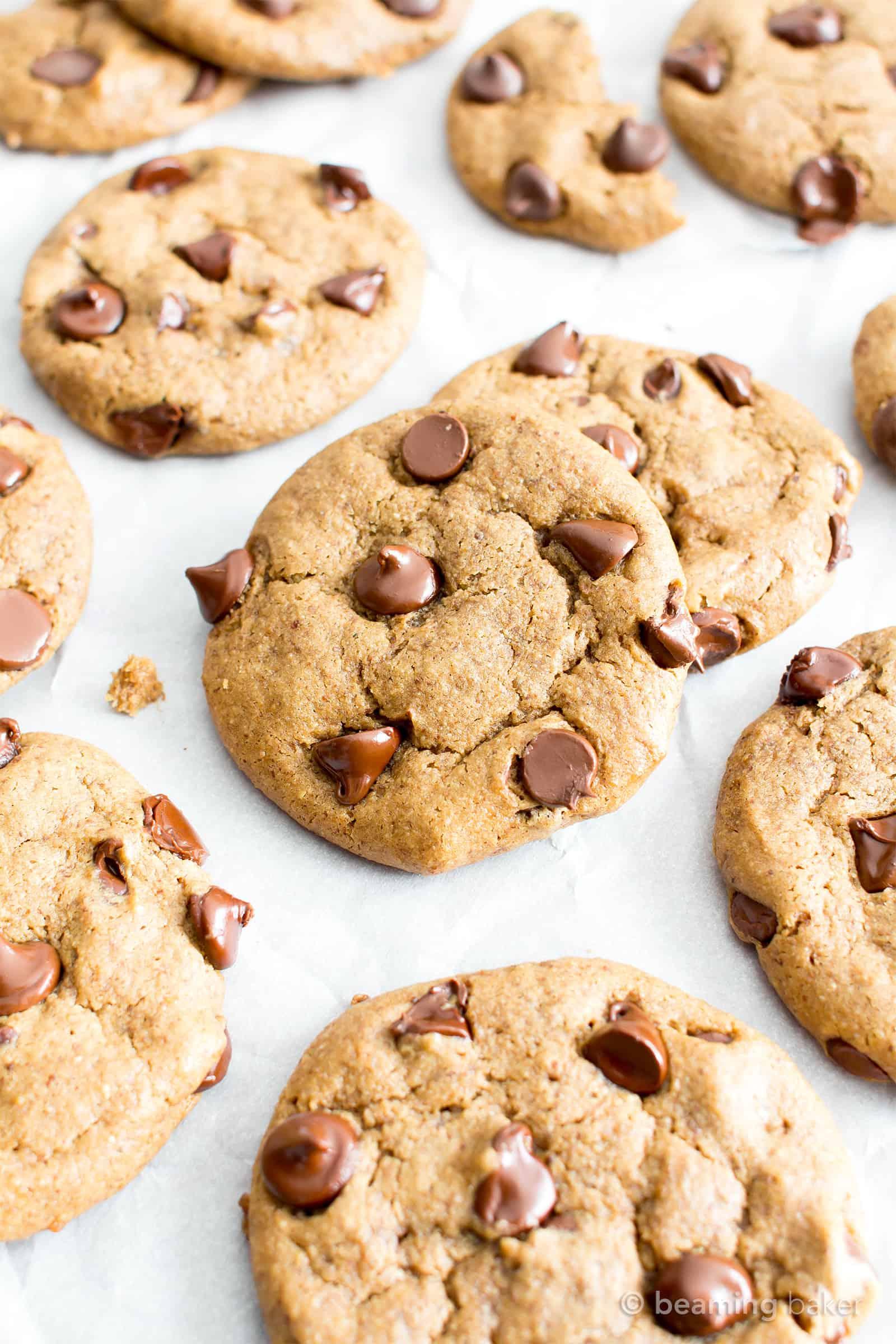 Gluten Free Almond Butter Chocolate Chip Cookies (Vegan ...