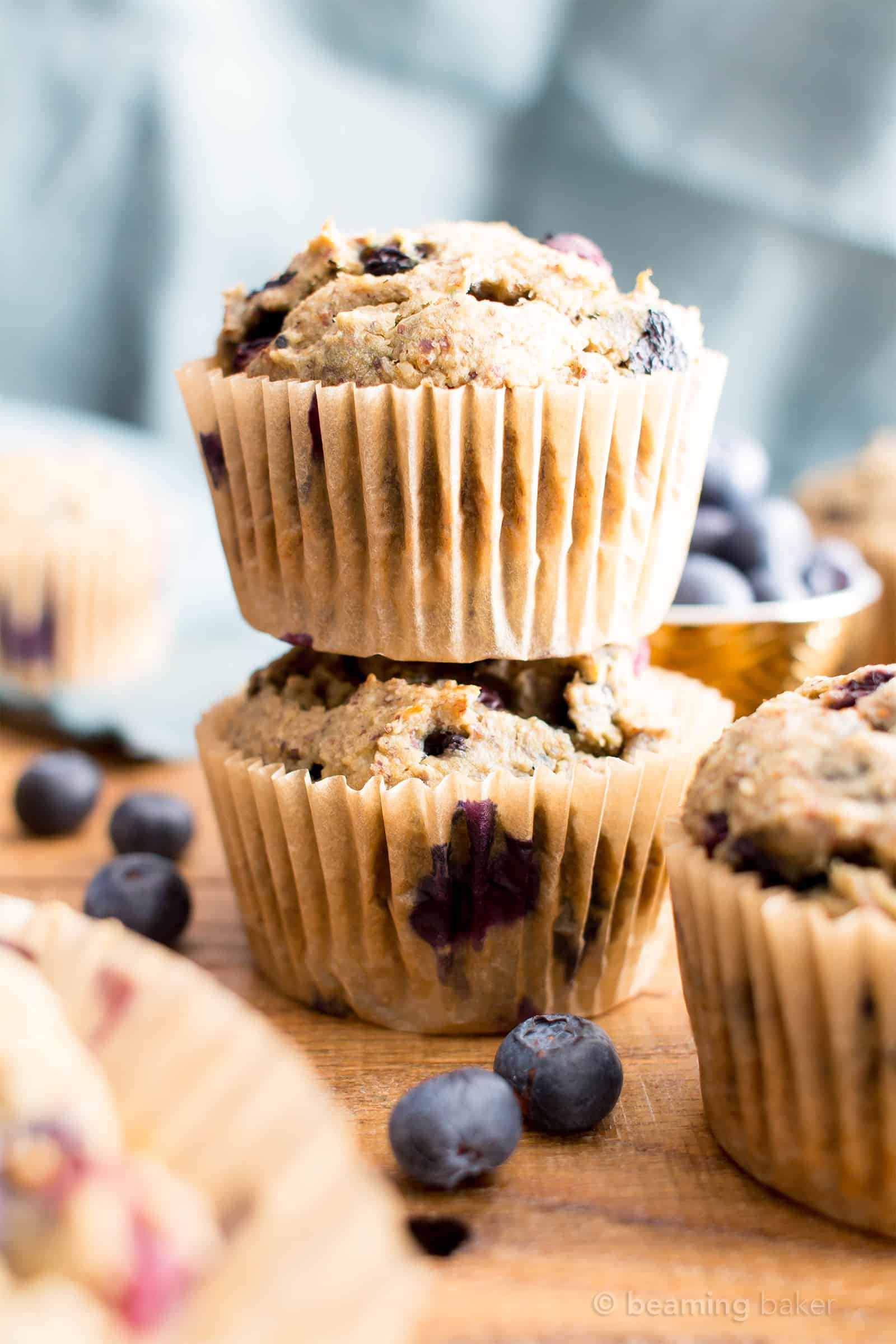 Vegan Healthy Banana Blueberry Muffins Recipe Gluten Free