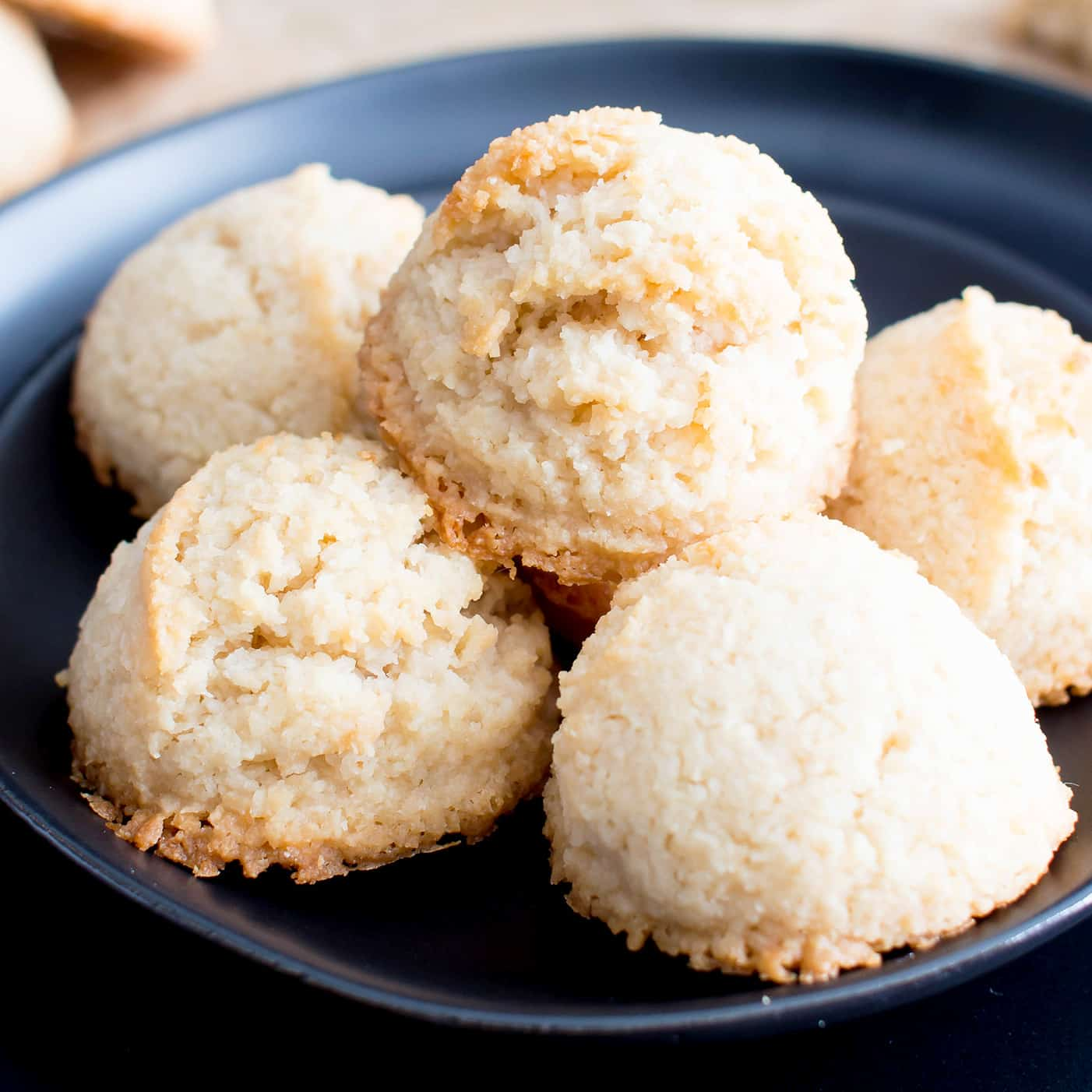 4 Ingredient Paleo Coconut Macaroons Recipe Vegan Paleo Gluten Free Dairy Free Refined Sugar Free Beaming Baker