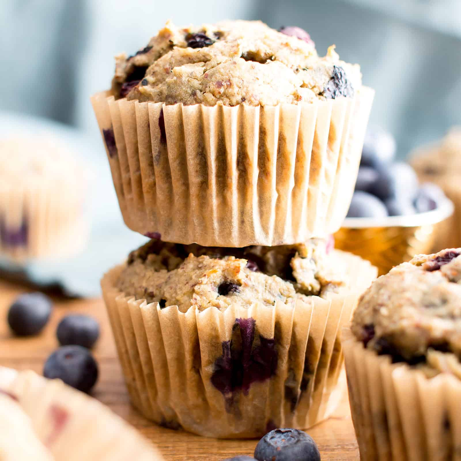 Healthy Banana Blueberry Muffins Recipe Gluten Free Vegan Dairy Free Refined Sugar Free
