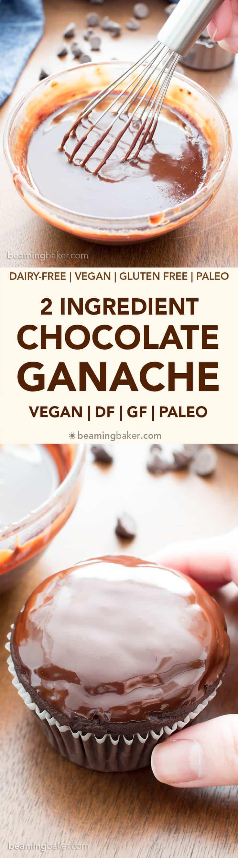 How to Make Chocolate Ganache Recipe (V, GF):an easy step-by-step tutorial for 5-minute rich, decadent chocolate ganache! #Vegan #GlutenFree #Paleo #Vegan #VeganDesserts #Chocolate #Desserts#DairyFree | Recipe on BeamingBaker.com
