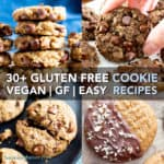 30+ Amazing Gluten Free Cookie Recipes (V, GF): a mouthwatering collection of irresistible gluten free cookie recipes to satisfy cookie lovers everywhere! #Vegan #GlutenFree #DairyFree #Cookies #Dessert | Recipe on BeamingBaker.com
