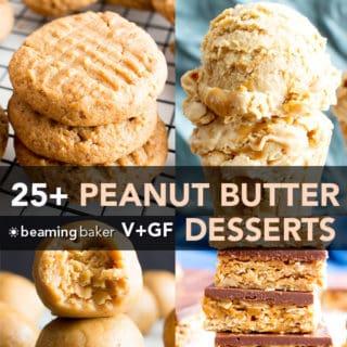 25+ Healthy Easy Peanut Butter Desserts Recipes (Vegan, Gluten-Free, Dairy-Free)