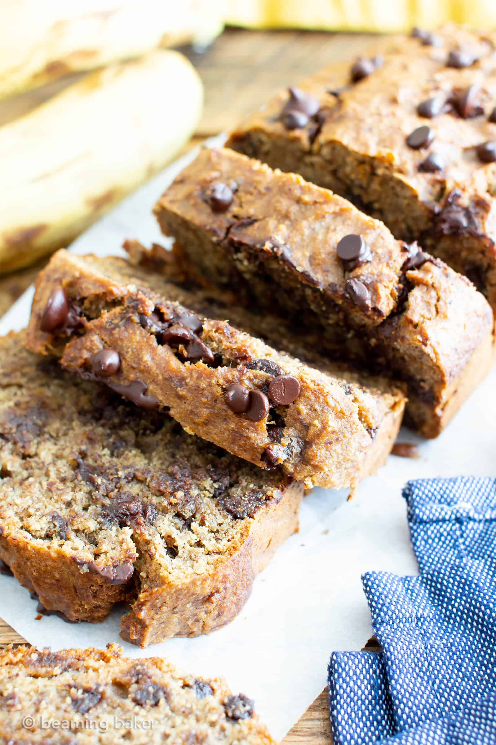 Best Moist Chocolate Chip Banana Bread Recipe Vegan Gluten Free One Bowl Beaming Baker