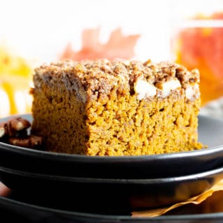Easy Gluten Free Vegan Pumpkin Coffee Cake Recipe (Dairy-Free, V, GF, Refined Sugar-Free)