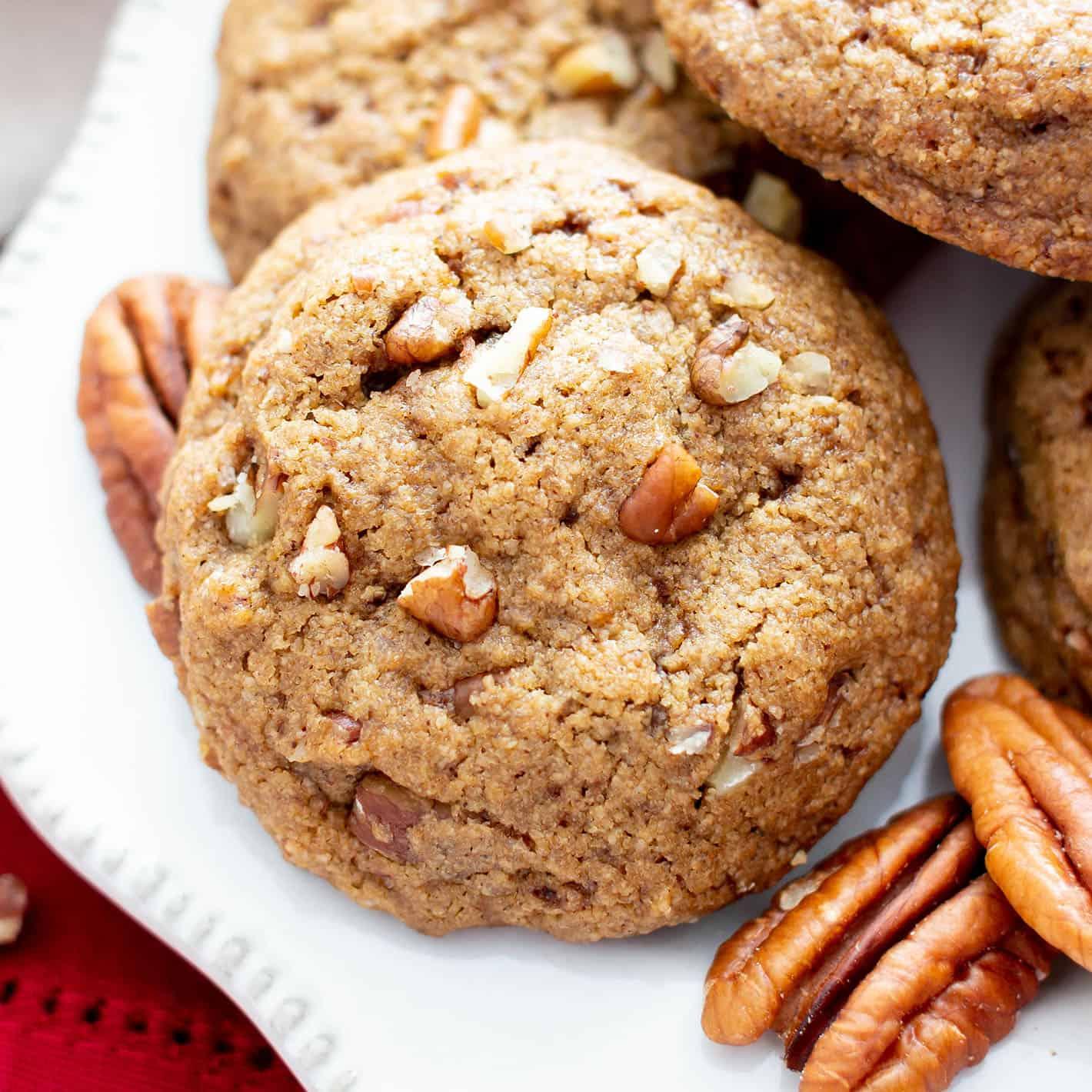 Easy Vegan Cinnamon Pecan Cookies Gluten Free Dairy Free Refined Sugar Free Healthy