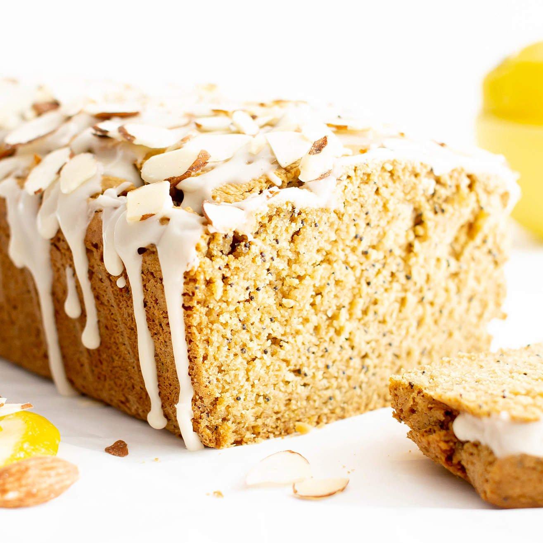 Easy Vegan Lemon Almond Poppy Seed Bread Recipe Gluten Free Healthy