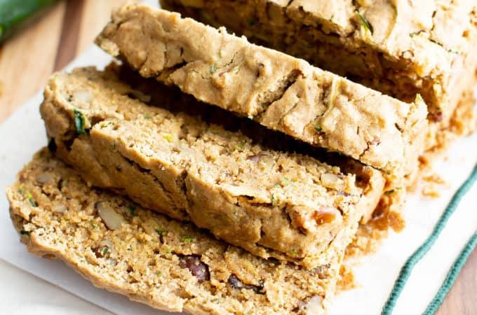 Moist Vegan Gluten Free Zucchini Bread Recipe (GF): Learn how to make the best vegan zucchini bread! This easy healthy vegan zucchini bread is moist 'n rich & perfect for summer! Dairy-Free. #Vegan #GlutenFree #Zucchini #Bread #DairyFree | Recipe at BeamingBaker.com