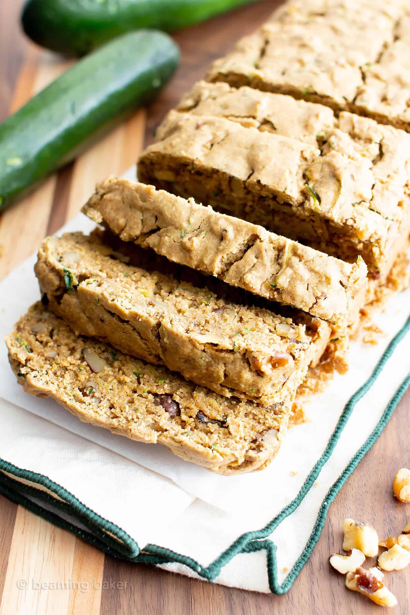 Moist Vegan Gluten Free Zucchini Bread Recipe Gf Easy Healthy Beaming Baker
