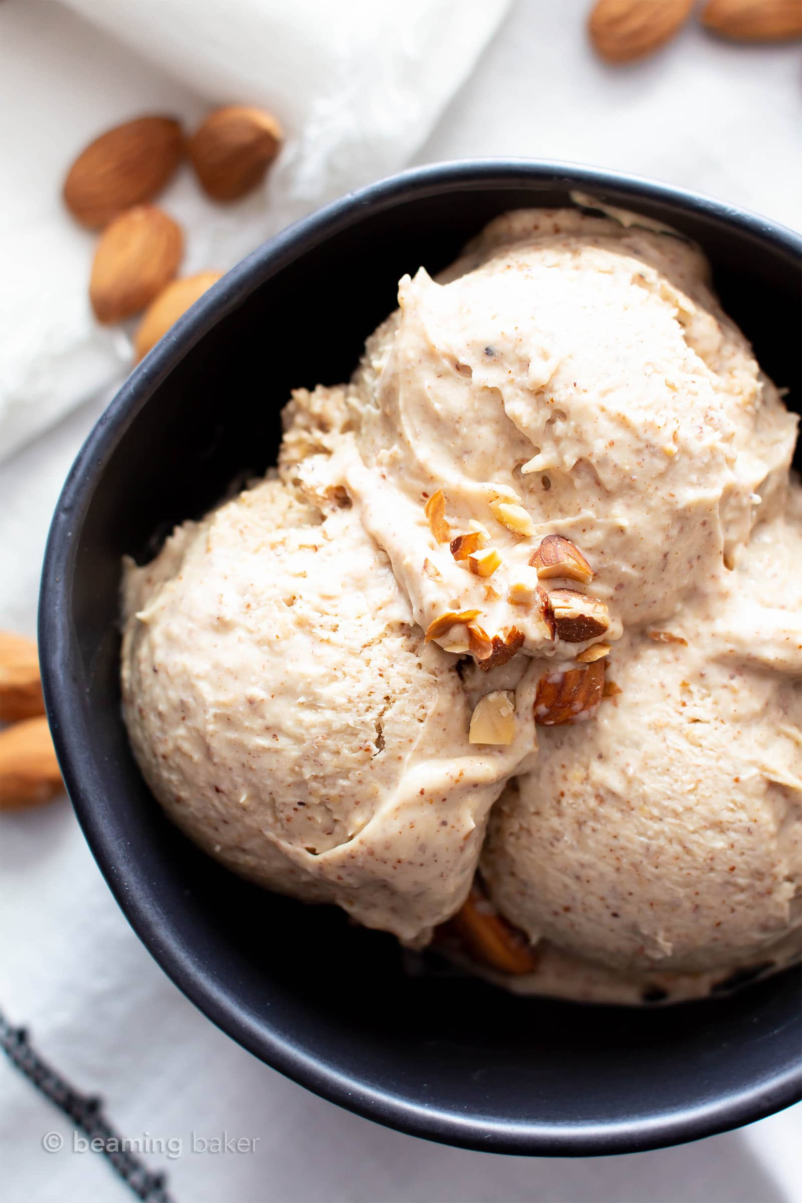 4 Ingredient Paleo Almond Butter Ice Cream Vegan Keto Dairy Free Without An Ice Cream Maker Beaming Baker