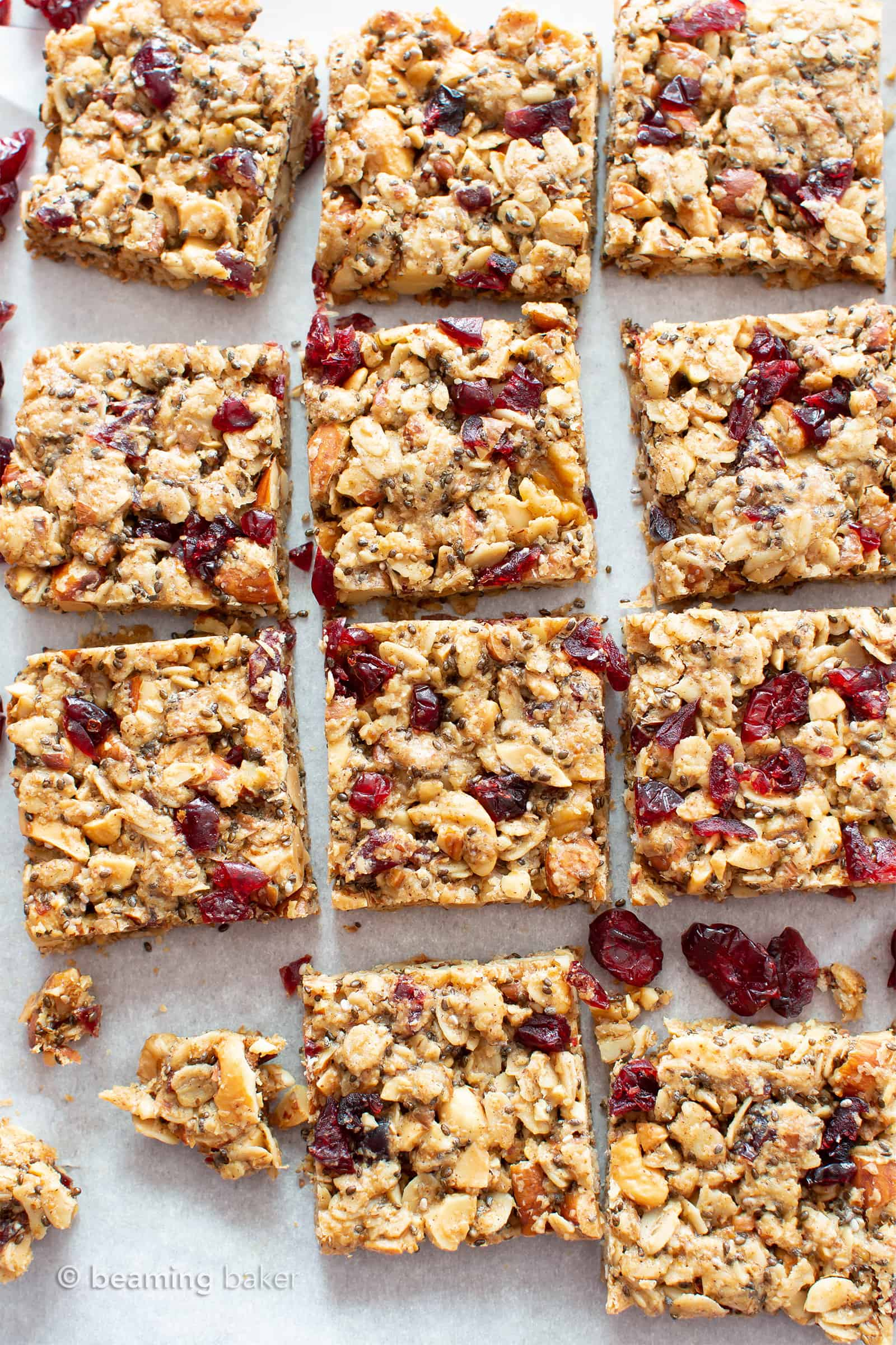 Cranberry Chia Gluten Free Vegan Snack Bars (Healthy, V ...