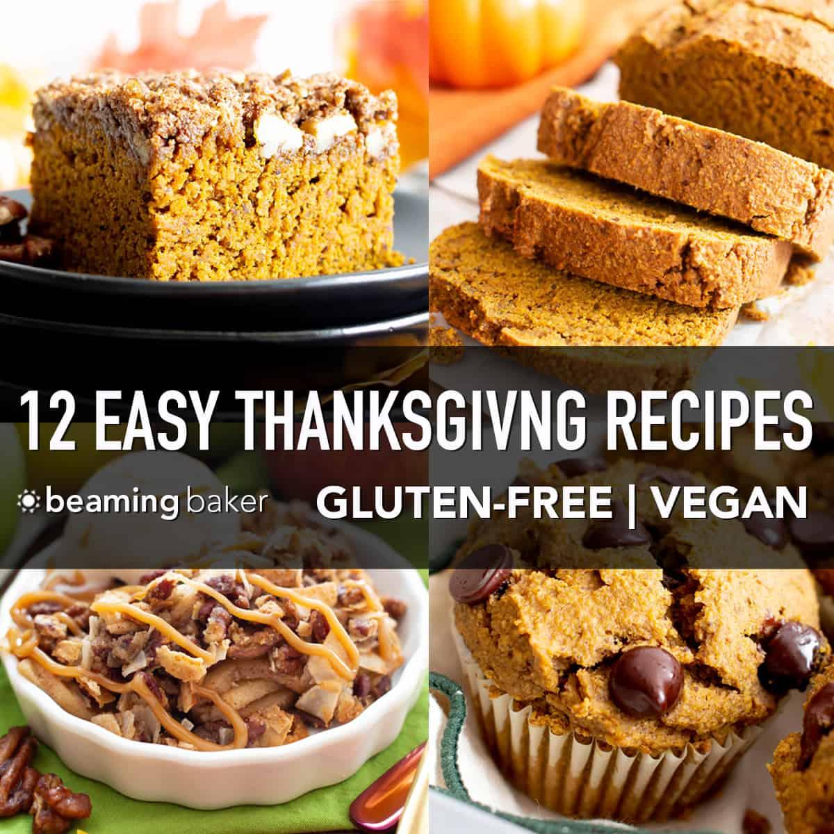 12 Easy Vegan Thanksgiving Dessert Recipes (Gluten Free