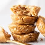 No Bake Peanut Butter Oatmeal Cups (V, GF): easy, simple & delicious—a quick recipe for soft 'n chewy peanut butter oatmeal cups that are No Bake! Healthy, Gluten-Free, Vegan, Dairy-Free, No Cook. #NoBake #Cookies #PeanutButter #Oatmeal | Recipe at BeamingBaker.com
