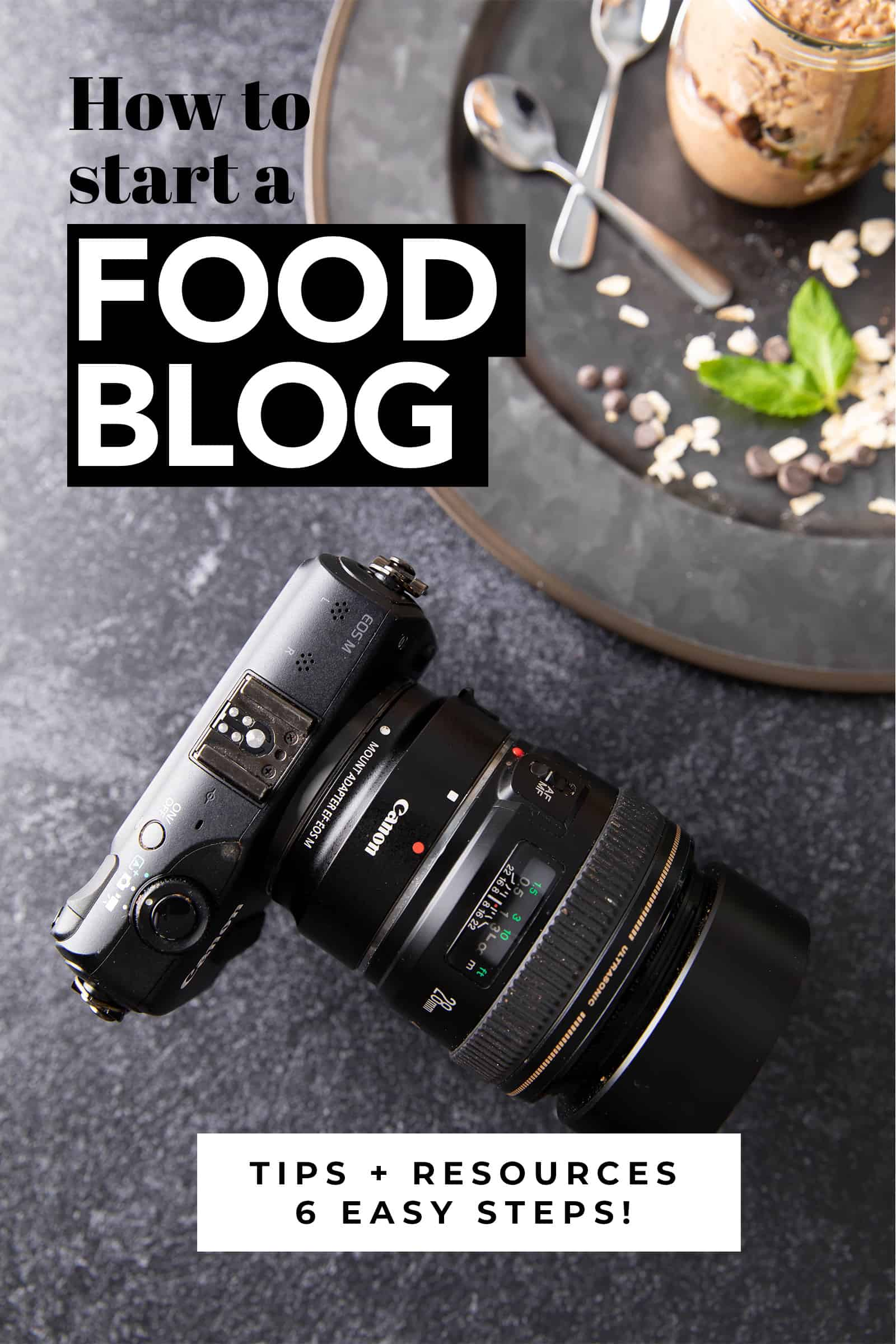 How to Start a Food Blog: learn how to start a food blog in just 6 easy steps. Get food blogging tips, advice and resources to start a successful food blog! #Blogging #FoodBlogging #FoodBlog #BloggingTips | Post at BeamingBaker.com