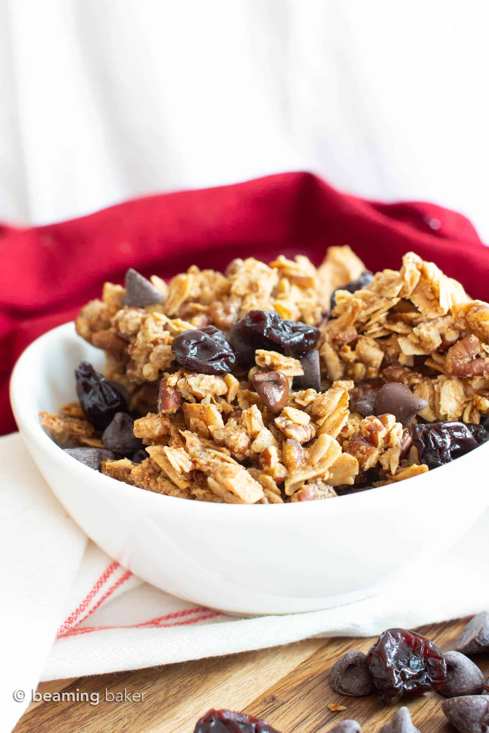 Easy Healthy Granola Recipe with Cherries & Chocolate ...